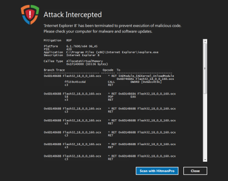 Hardware-assisted Control-Flow Integrity stopping nation-state attack on CVE-2015-3113